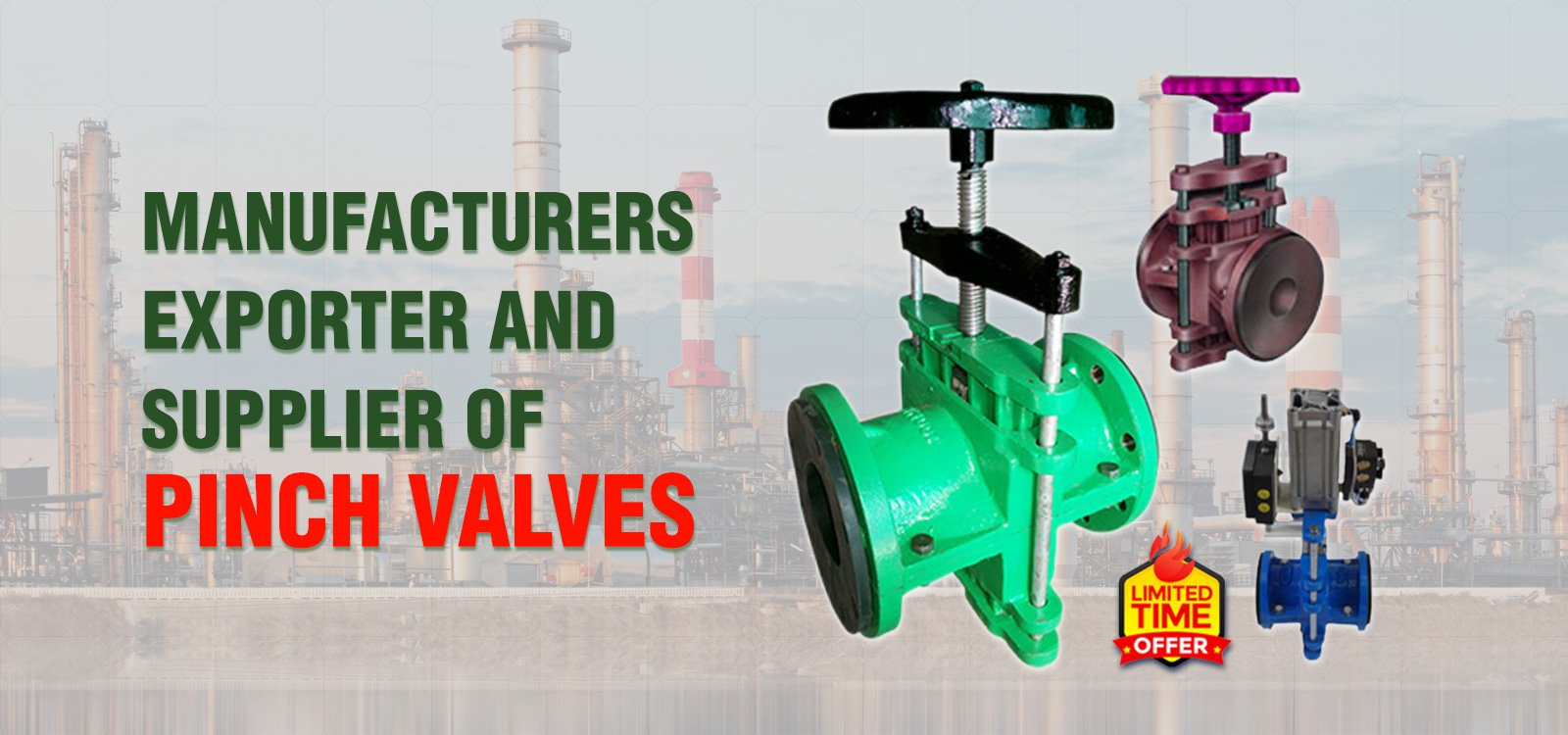 Manufacturers, exporter and supplier of pinch valves.